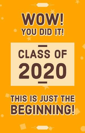 Yellow, Brown, Graduation Congratulation Card  Graduation Poster