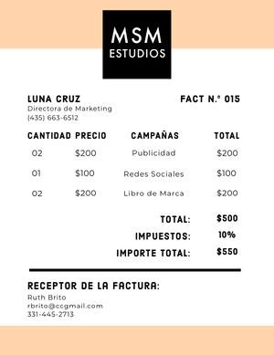 advertising studio invoice  Factura
