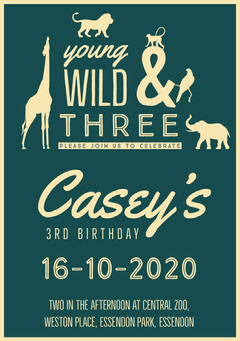 birthday invite for boy  Animal
