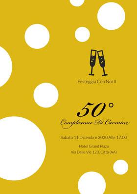 50°   Invito al compleanno