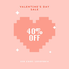 valentine's day sale instagram Heart