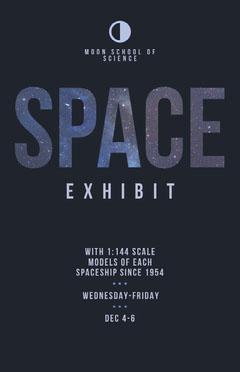 Night Sky Stars School Space Exhibit Flyer Space