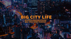 City life vlog Youtube Channel Art City