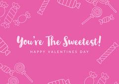 valentines sweet card Valentine's Day