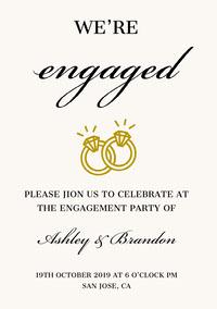 engaged  Engagement Invitation