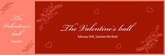 Red Elegant Calligraphy Valentines Day Raffle Ticket Valentine's Day