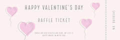 Gray and Pink Balloon Heart Valentine's Day Party Raffle Ticket Balloon