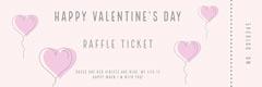 balloon heart valentines raffle ticket Balloon