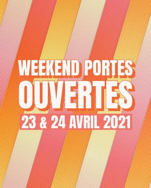 Multicoloured Stripes Orange Open House Weekend Instagram Portrait  Prospectus d'inauguration