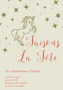 let's celebrate  unicorn birthday cards Carte d'anniversaire