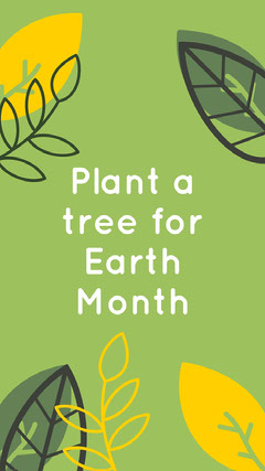 Green and White Earth Month Social Post Earth