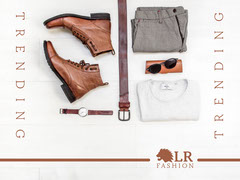 Flat Lay Clothing Photo Men's Fashion Facebook Shop Banner Fashion