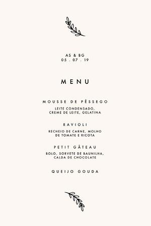 classic wedding menu  Menu