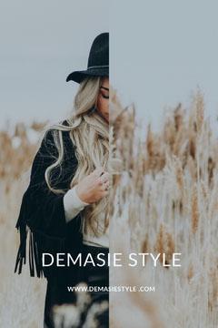 Female Fashion Store Pinterest Ad with Fashion Model Fashion