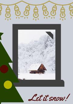 let it snow window frame poster Frame