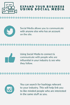 Teal Business and Social Media Infographic Social Media Flyer