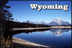Blue Wyoming Postcard Lake