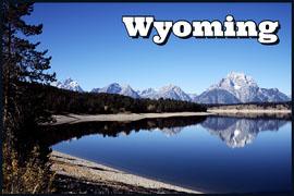 Wyoming postcard Carte postale
