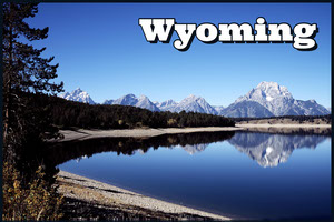 Wyoming postcard Cartolina di viaggio