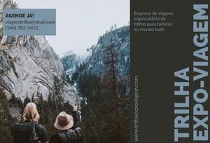 hiking expo-travel brochures  Panfleto