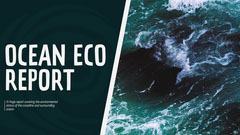 Ocean Eco Cover Presentation Slide Ocean