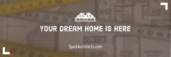 Beige Architect Horizontal Ad Banner Architecture