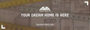 Beige Architect Horizontal Ad Banner Ads Banner