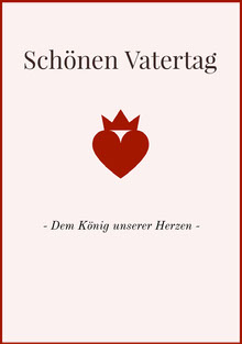 king of hearts Father's Day cards  Vatertagskarten