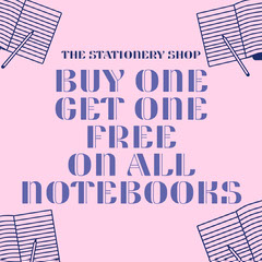 Pink & Navy Stationery Shop Instagram Square Shopping