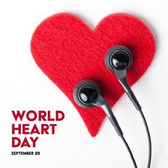 red white world heart day instagram  Heart
