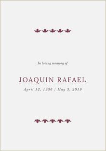 JOAQUIN RAFAEL Programa funerario