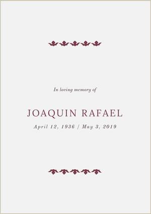 JOAQUIN RAFAEL Program