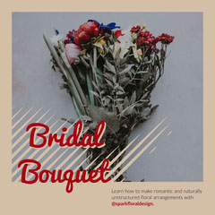 Brown and Red Bridal Bouquet Instagram Square Flowers