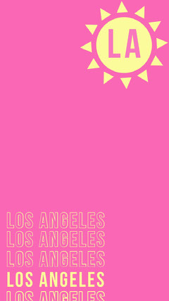 Pink and Yellow Los Angeles California Travel and Tourism Snapchat Story California