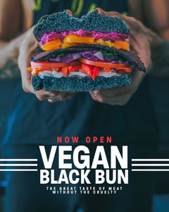 Vegan Black Bun Burger Instagram Portrait Burger