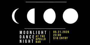 Black and Yellow Moonlight Dance Night Event Eventbrite Banner Music Banner