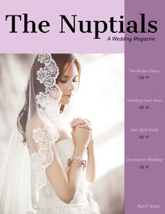 Violet and Beautiful Bride Magazine Cover Fashion Magazines Cover