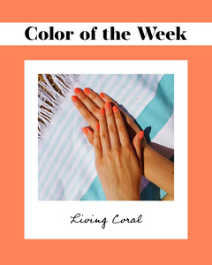 Coral Nail Color of the Week Polaroid Frame Frame