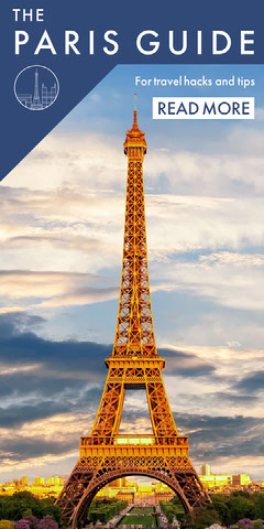 Blue With Eiffel Tower Paris Advertisement France
