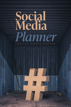 Beige and Blue Social Media Planner Pinterest Post  Social Media Flyer