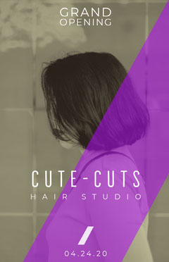CUTE-CUTS Grand Opening Flyer