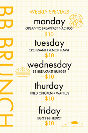 Yellow Monochromatic Modern Weekly Menu Weekly Menu
