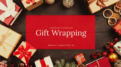 Warm Toned Christmas Gift Wrapping Workshop Ad Twitter Banner Fundraiser