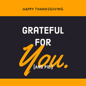 Yellow and Grey Minimalistic Thanksgiving Instagram Graphic Meme