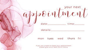 Pink Watercolor Appointment Card Appointment Card