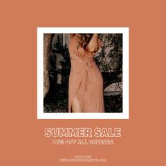 Summer Sale Instagram Square Dress