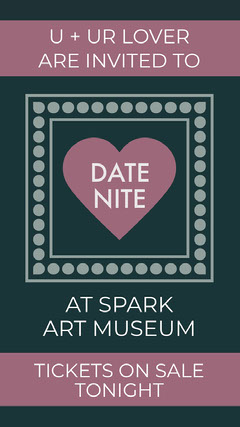 Purple and Black Art Museum Invitation Museum
