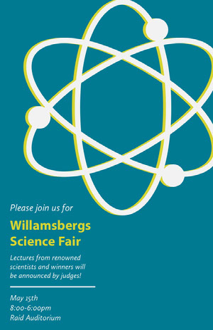 Willamsbergs <BR>Science Fair  Event Poster