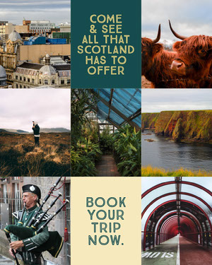 Scotland Travel Instagram Portrait with Collage Bilder kombinieren