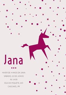 pink confetti unicorn birthday cards  Cartão de aniversário